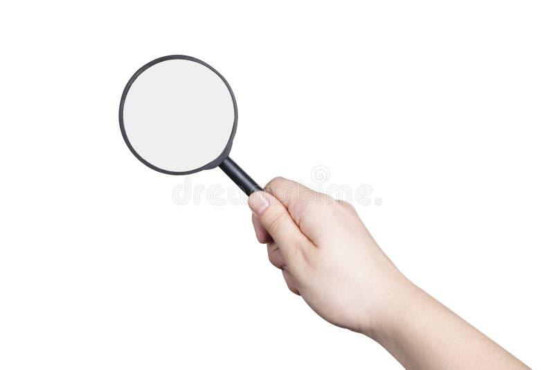 Magnifier à disposicão fotografia de stock