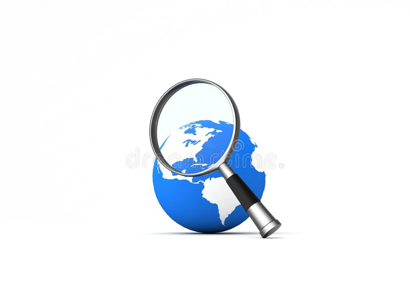 magnifier świat ilustracja wektor