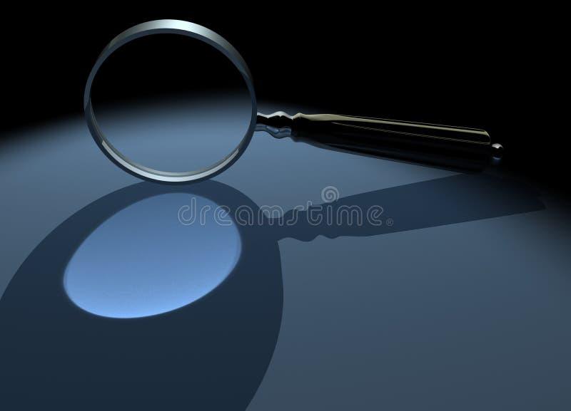 Magnifier 1 ilustração do vetor