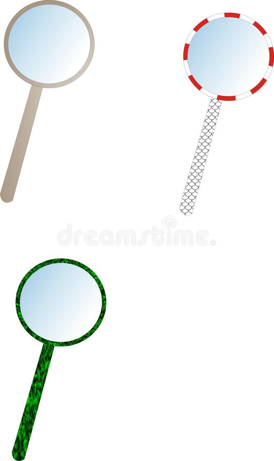 magnifier obrazy stock