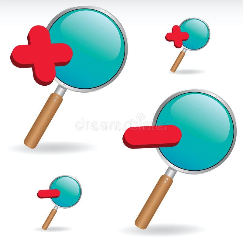 Magnifier stock illustration