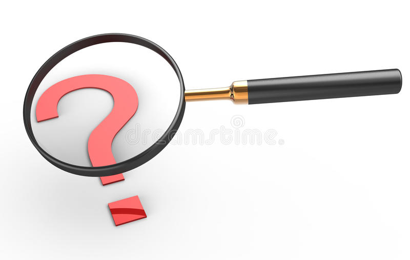 Magnifier royalty free illustration