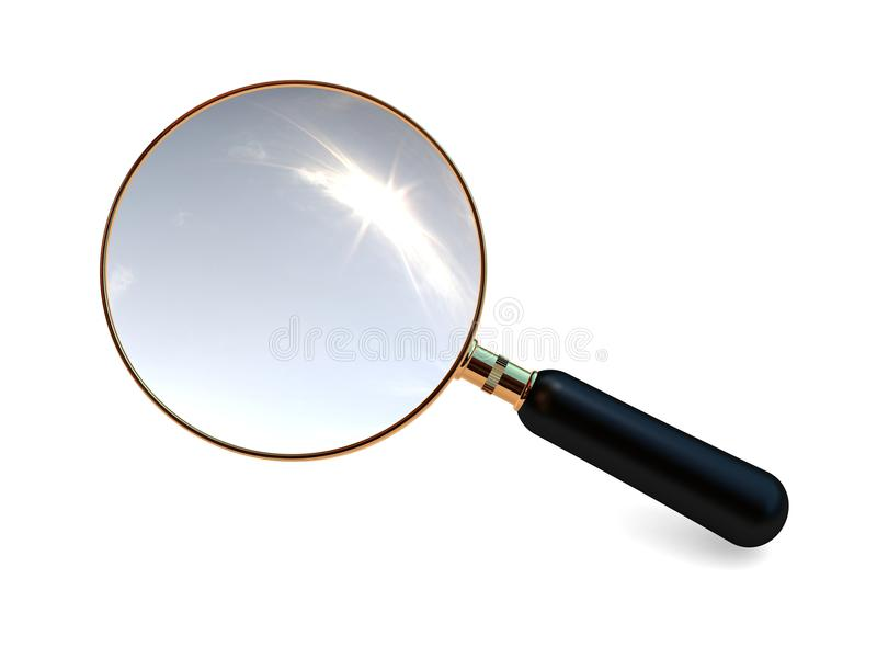 Download Magnifier stock illustration. Image of looking, exploration - 26098848