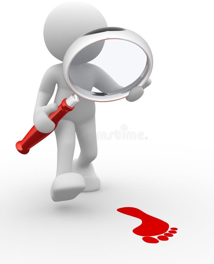 Download Magnifier ilustração stock. Ilustração de passos, mistério - 26505602