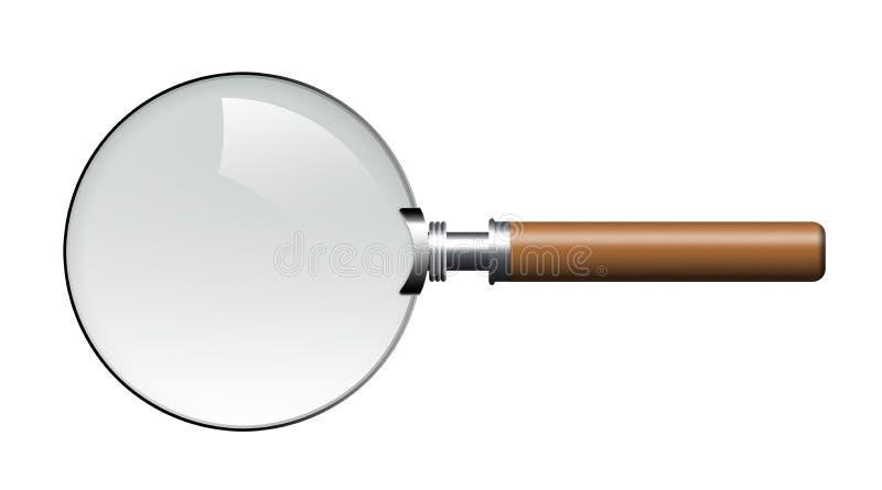 Magnifier ilustração do vetor