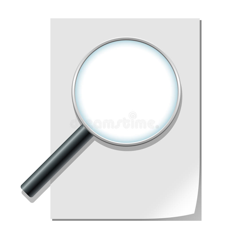 Download Magnifier And Blank Paper Sheet Stock Vector - Illustration: 19020546