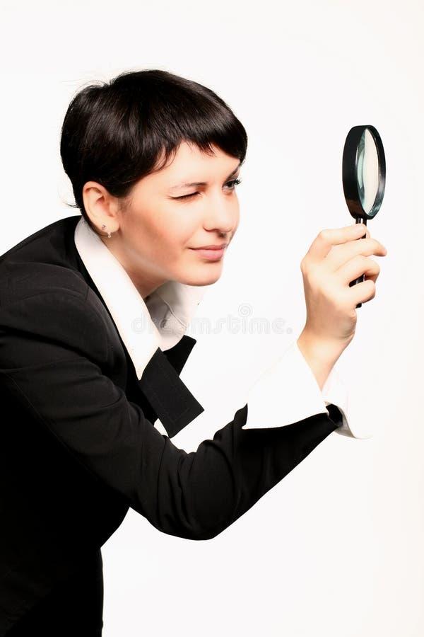 Magnifier da busca imagem de stock