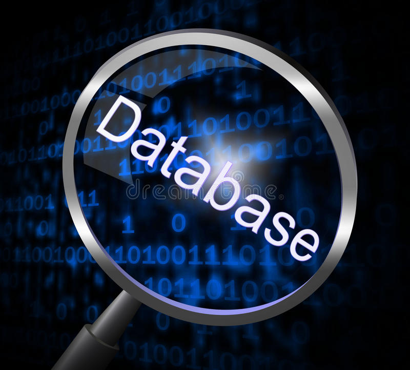 Free Magnifier Databases Represents Searching Magnification And Searches Stock Photos - 44993363