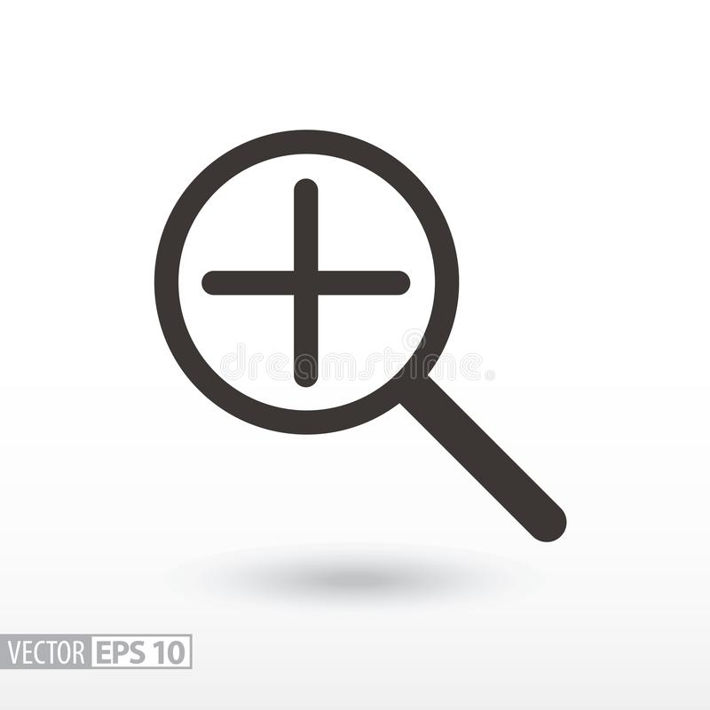 Magnifier flat Icon. Sign magnifying glass. Vector logo for web design, mobile and infographics. Vector illustration eps10. Isolated on white background stock illustration