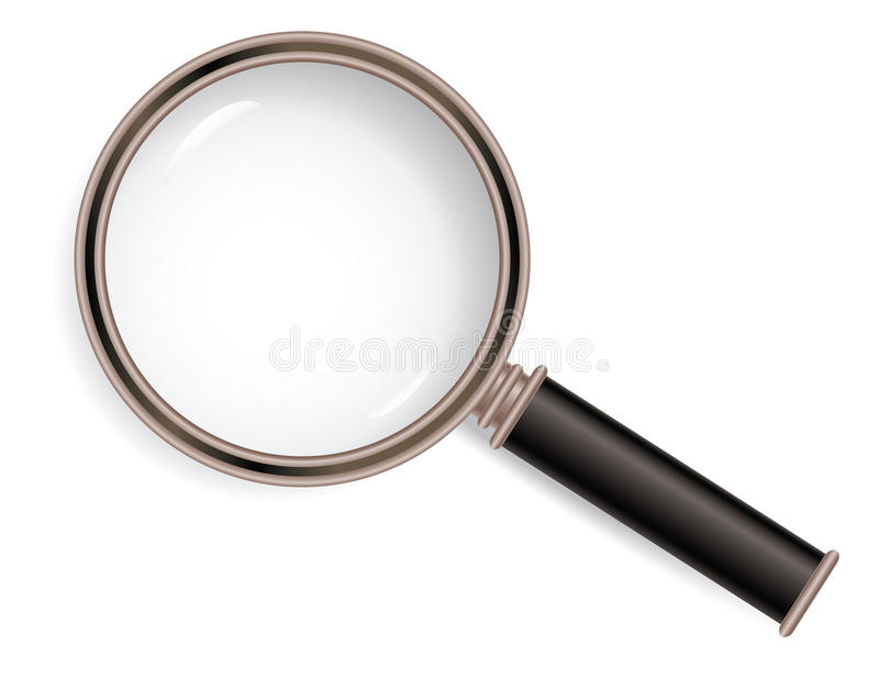 Download Magnifier glass stock vector. Image of zoom, glass, magnifier - 20136907