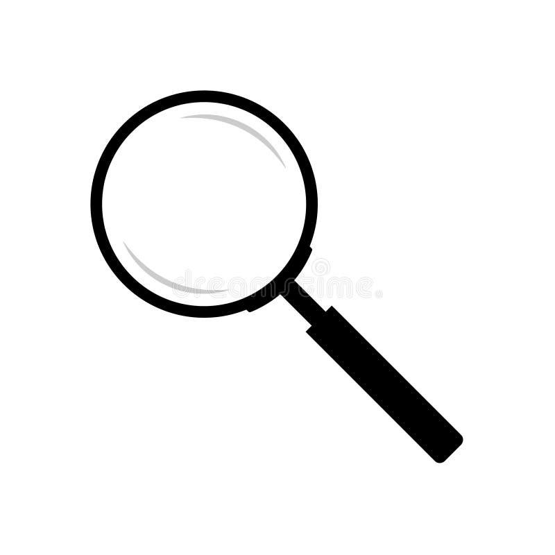 Magnifier grafisch die teken op witte achtergrond wordt geïsoleerd vector illustratie