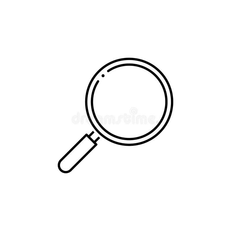 Magnifier icon. Element of science illustration. Thin line illustration for website design and development, app development. Premi. Um outline icon on white royalty free illustration