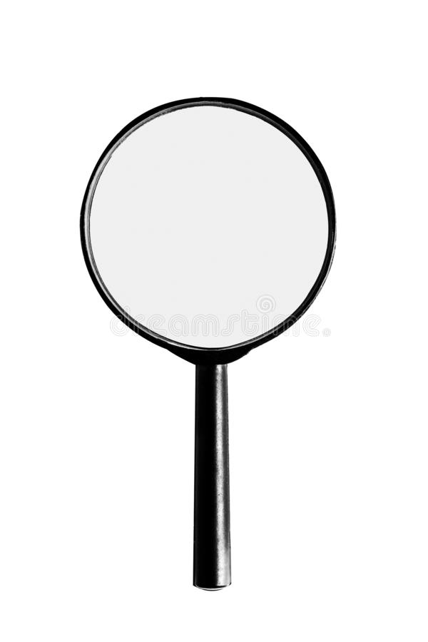 Magnifier isolado imagem de stock royalty free