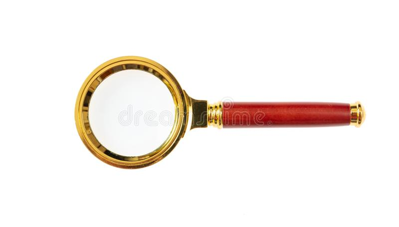 Magnifier isolated on white background. 3d illustration royalty free illustration