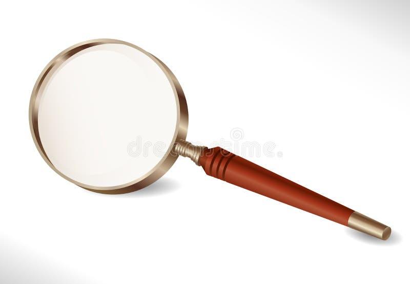 Magnifier - isoleer voorwerp royalty-vrije illustratie