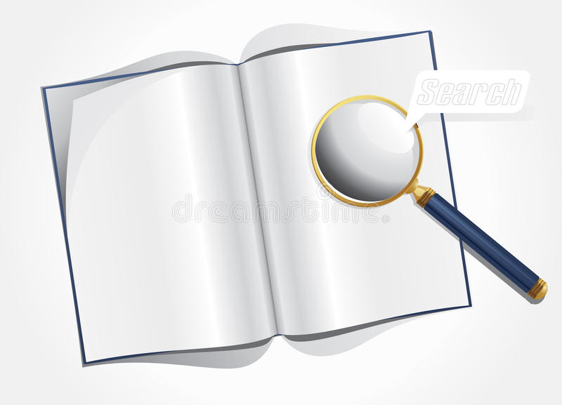Magnifier And Layout Magazine Royalty Free Stock Image