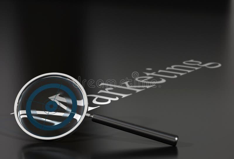magnifier marketingu słowo royalty ilustracja