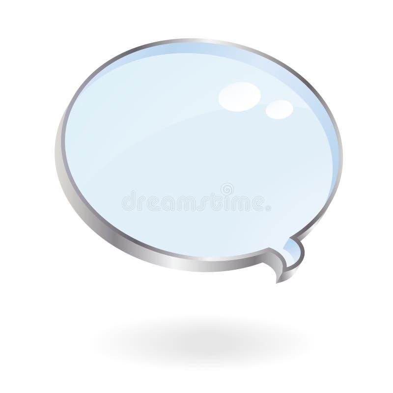 Magnifier talking bubble vector vector illustration