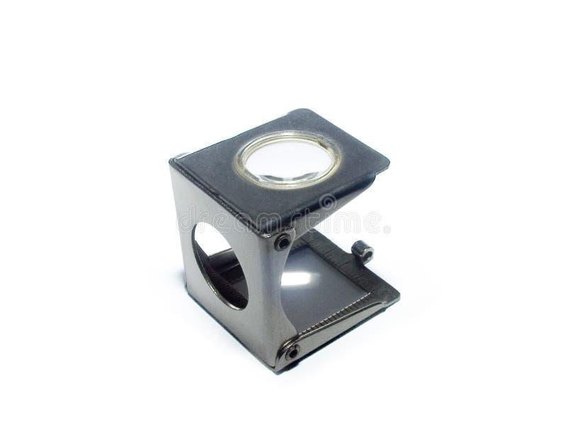 Magnifier tipografico - contatore del filetto immagine stock libera da diritti