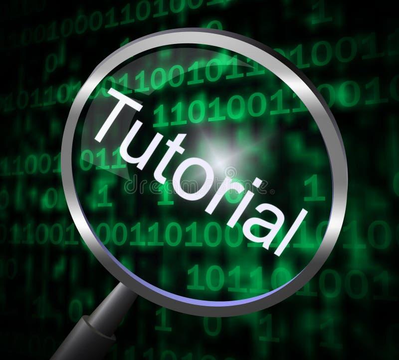 Magnifier van een privé-leraar vertegenwoordigt Online Leerprogramma's en Ontwikkeling stock illustratie