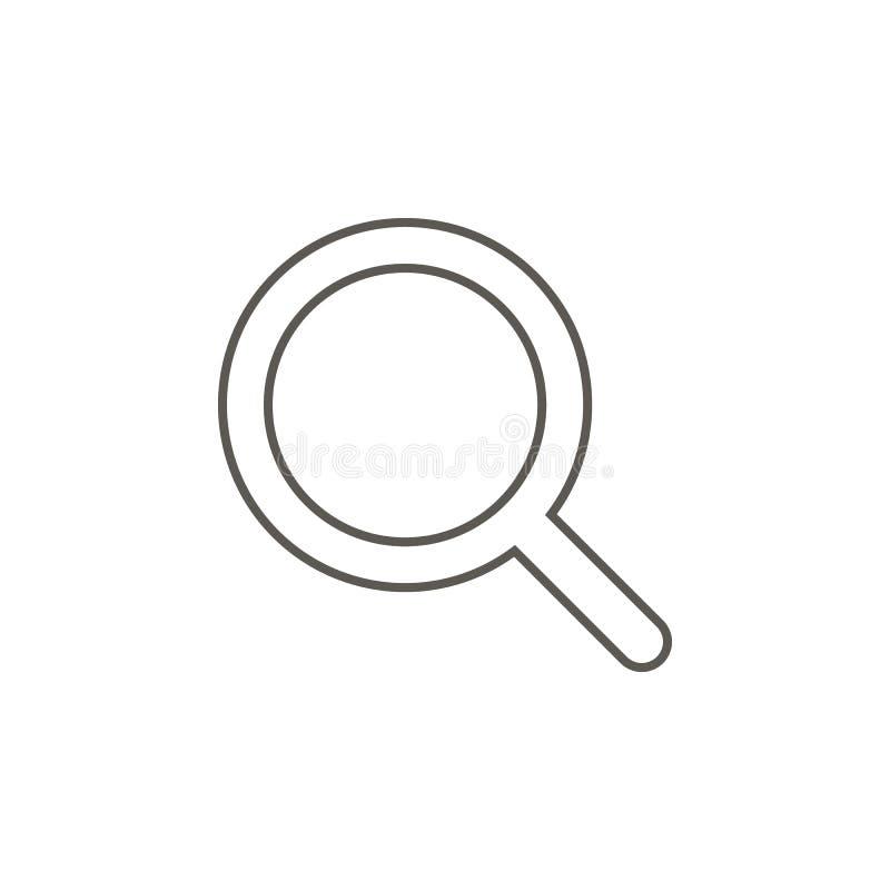 Magnifier vectorpictogram E Magnifier vectorpictogram Concept 6 van onroerende goederen royalty-vrije illustratie