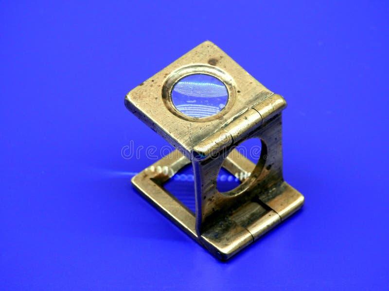 Magnifier velho foto de stock royalty free