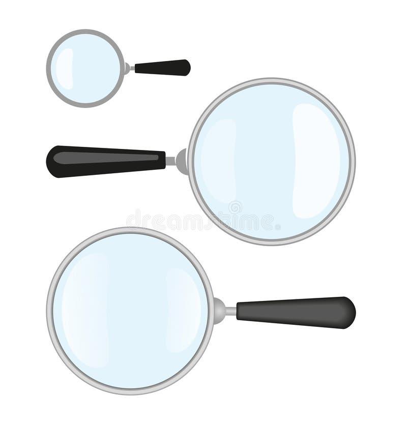 magnifiers ilustração do vetor