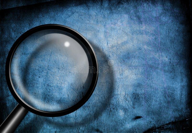 Magnifiez la grunge bleue en verre illustration libre de droits