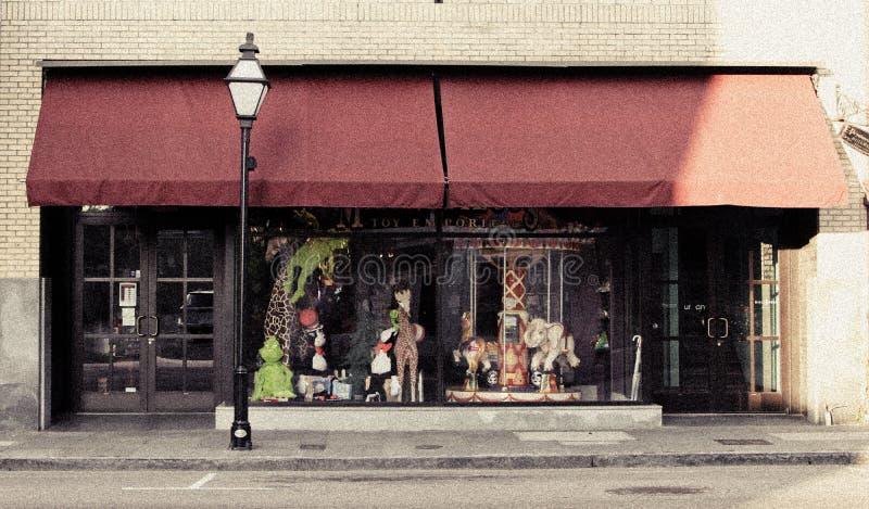 Magnifilous Toy Emporium, konung Street, charleston, SC arkivbilder