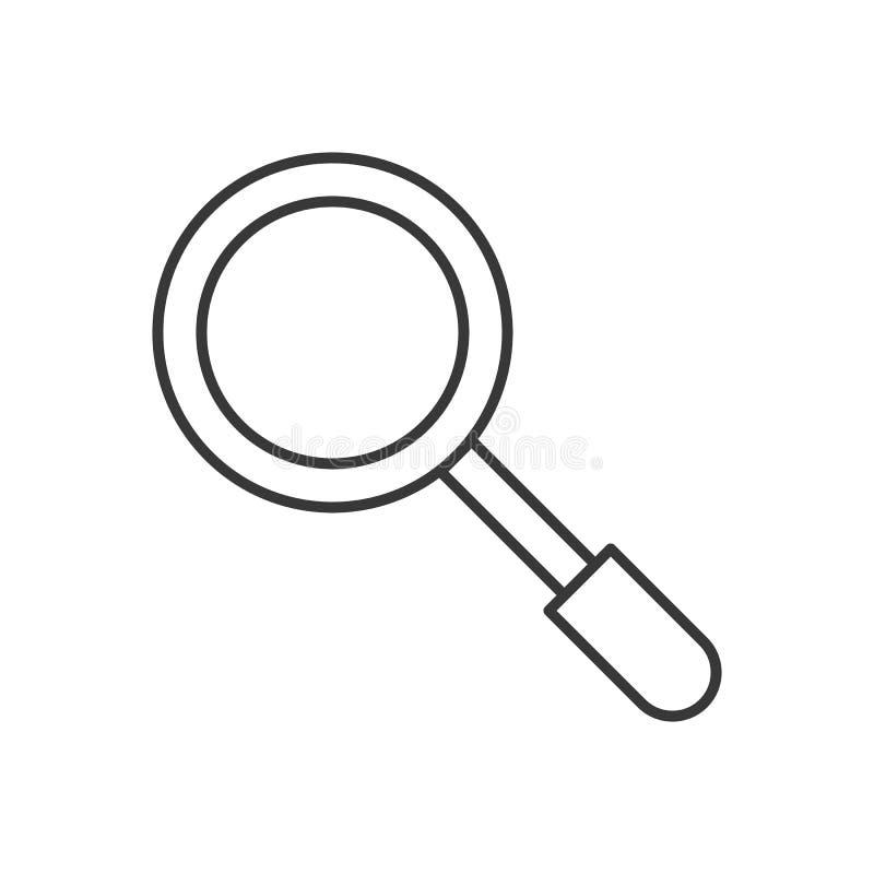 Magnifique el vidrio, icono relacionado de la policía, movimiento editable del esquema ilustración del vector