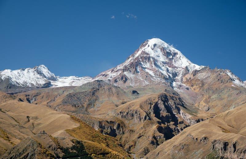 Magnifique paysage de Kazbegi en Géorgie photographie stock