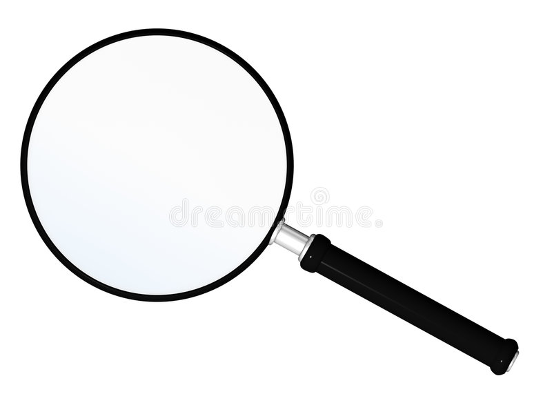 Magnify. Glass tool isolated on white royalty free illustration