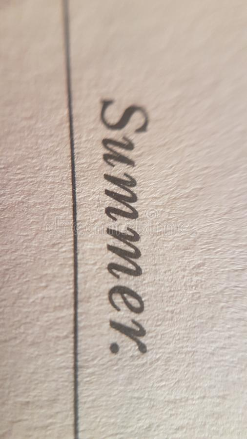 Magnify book text cursive Textur Sommer stockbilder
