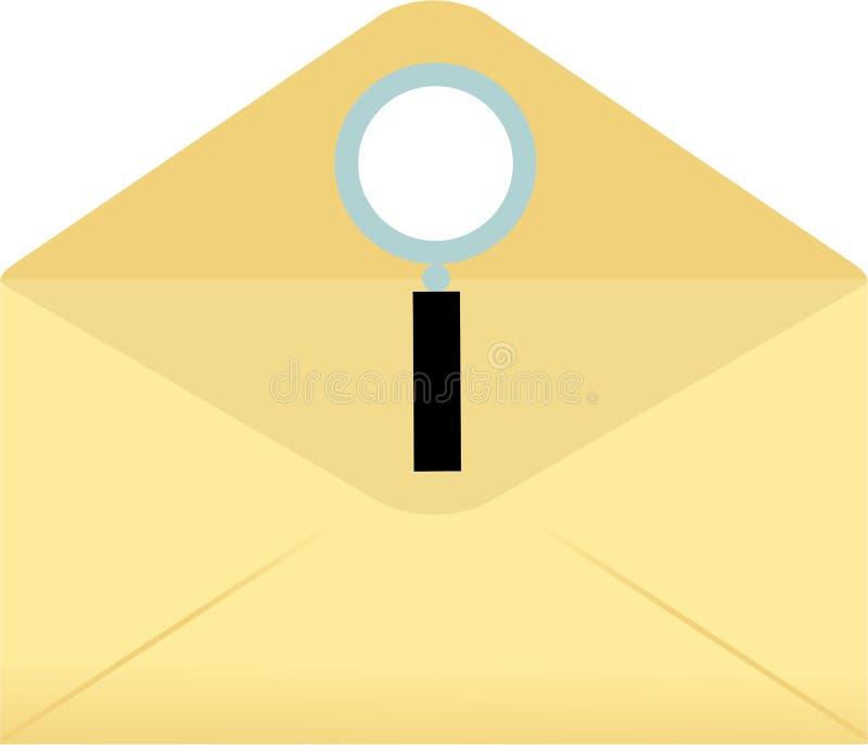 Magnify envelope vector illustration