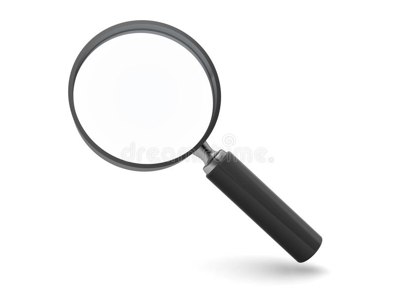 Magnify glass. 3d illustration of magnify glass isolated over white background stock illustration