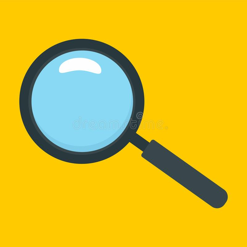 Magnify glass icon, flat style. Magnify glass icon. Flat illustration of magnify glass vector icon for web design vector illustration