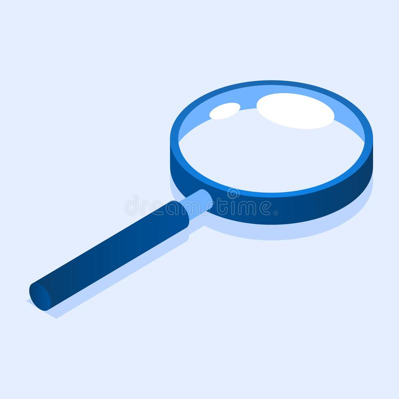 Magnify glass icon, isometric style. Magnify glass icon. Isometric of magnify glass vector icon for web design isolated vector illustration