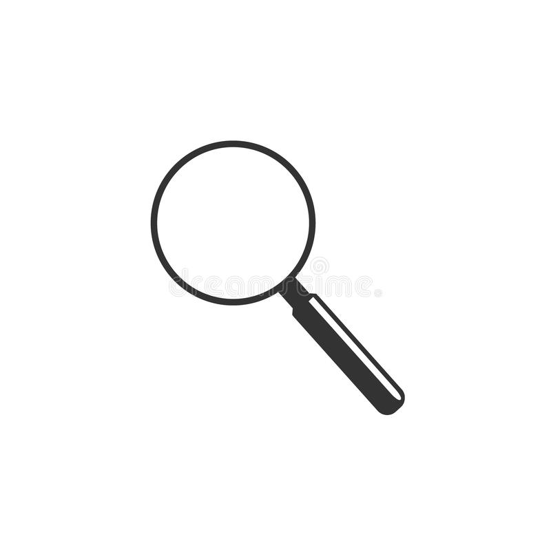 Magnify glass, icon, vector. Vector illustration of magnify glass icon in flat style royalty free illustration