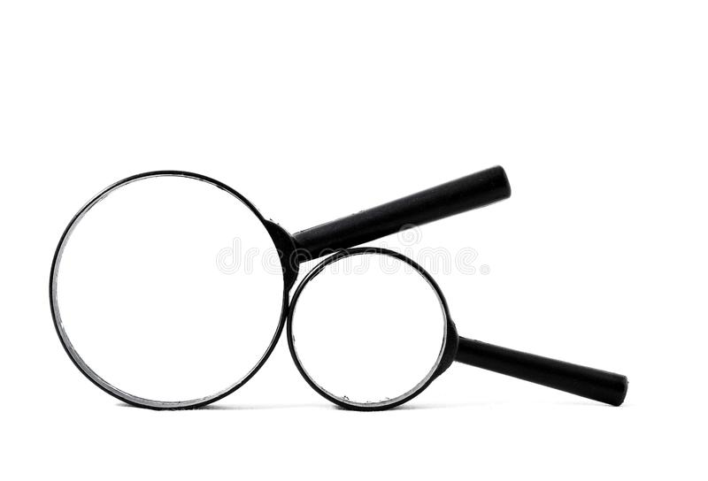 Magnify Glass Loupe. Isolated on a White Background royalty free stock images