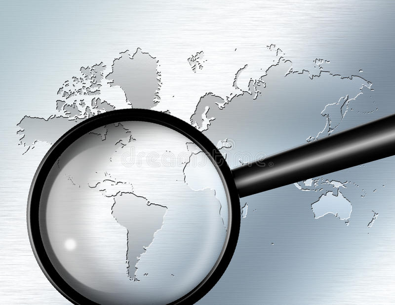 Download Magnify Glass  South America Royalty Free Stock Images - Image: 12210459