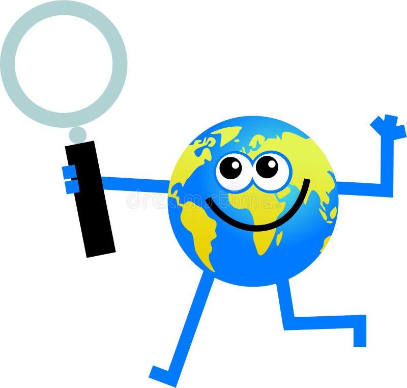 Magnify globe royalty free illustration