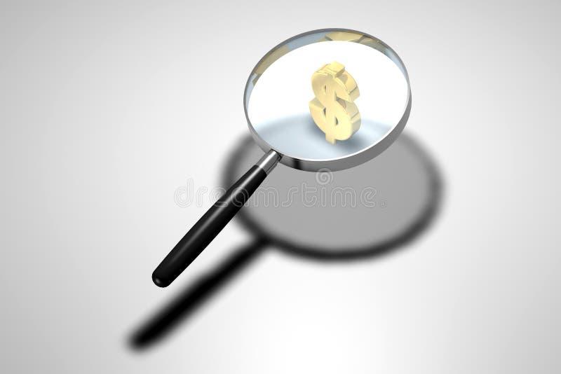Magnifying glass vector illustration