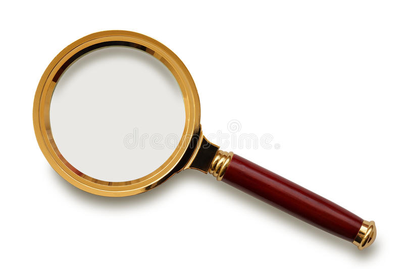 Download Magnifying glass. stock photo. Image of lens, white, object - 13210038