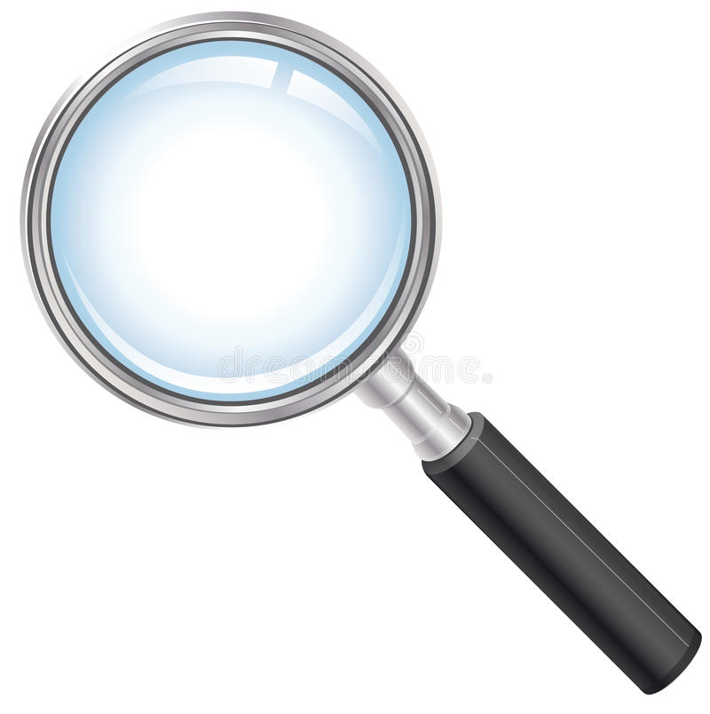 Magnifying glass royalty free illustration