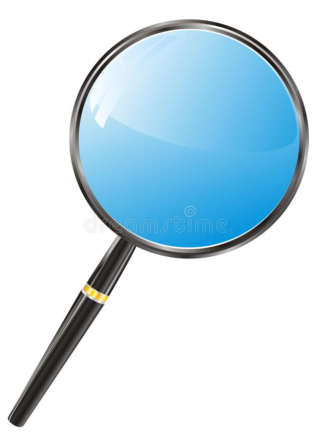 Download Magnifying glass stock vector. Image of seek, isolated - 23250285