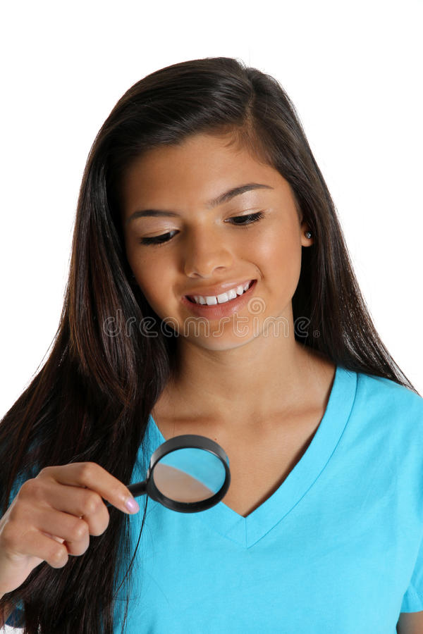 Download Magnifying Glass stock photo. Image of looking, teen - 24407412