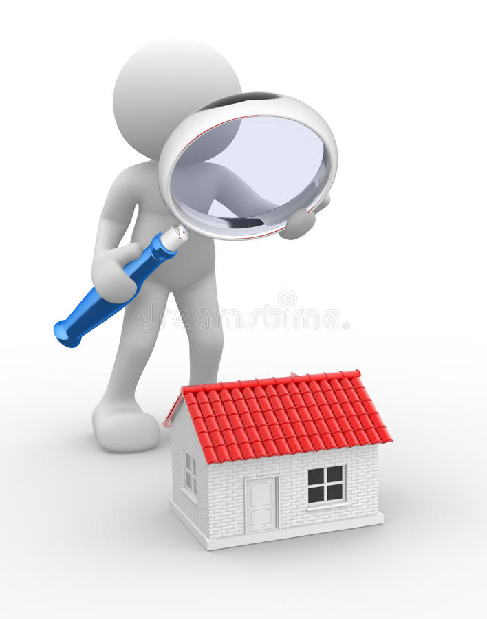 Download Magnifying glass stock illustration. Image of architectural - 26601943