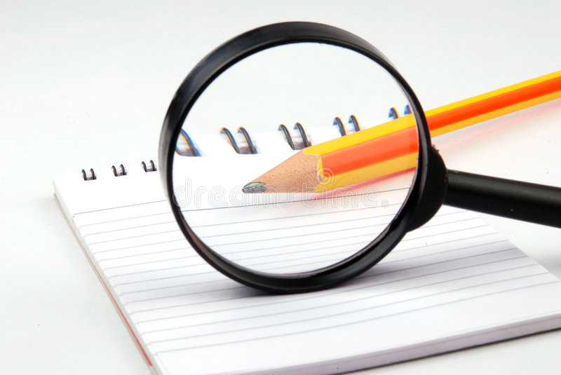 Download Magnifying Glass stock image. Image of close, book, read - 3418033