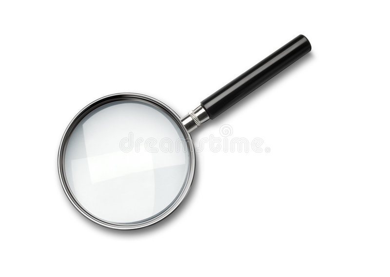 Magnifying glass stock photos
