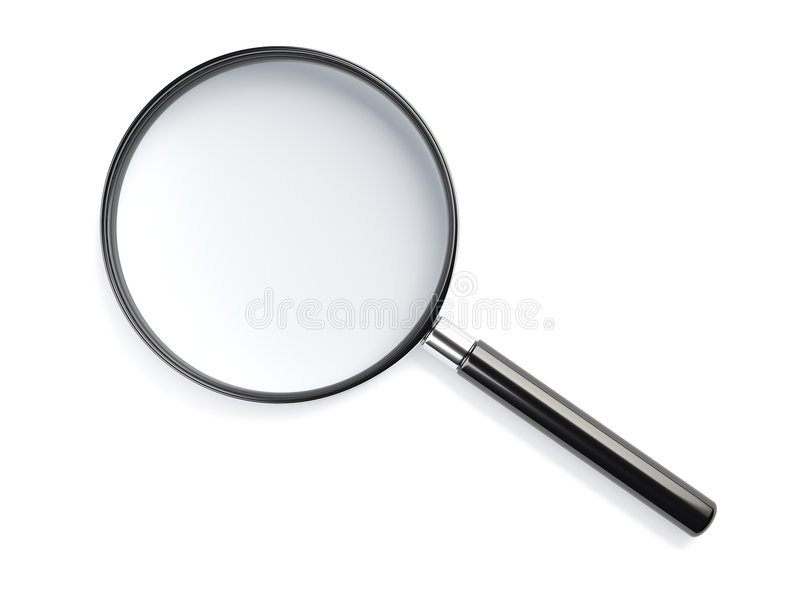Magnifying glass stock illustration